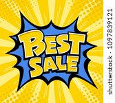 vector best sale banner yellow... | Shutterstock .eps vector #1097839121
