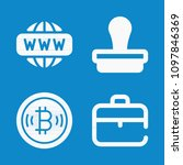 set of 4 business filled icons... | Shutterstock .eps vector #1097846369