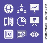 set of 9 business filled icons... | Shutterstock .eps vector #1097847545