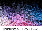 dark blue  red vector polygon... | Shutterstock .eps vector #1097848661