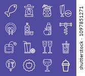 set of 16 food outline icons... | Shutterstock .eps vector #1097851271