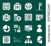 set of 16 business filled icons ... | Shutterstock .eps vector #1097852369