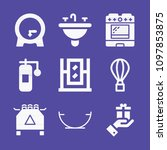 set of 9 other filled icons... | Shutterstock .eps vector #1097853875