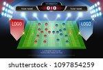football or soccer starting... | Shutterstock .eps vector #1097854259