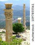 Small photo of Columns of the upper agora in Sagalassos ancient city, Burdur Turkey.