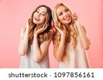 image of two pleased pretty... | Shutterstock . vector #1097856161