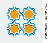 arabic geometric abstract art... | Shutterstock .eps vector #1097857769