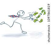 stick figure running and...   Shutterstock .eps vector #1097861819