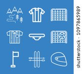 set of 9 sports outline icons... | Shutterstock .eps vector #1097865989