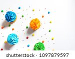 flat lay composition with... | Shutterstock . vector #1097879597