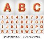 golden alphabet letters... | Shutterstock . vector #1097879981