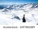 gondola lift to plateau rosa in ... | Shutterstock . vector #1097881889