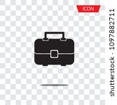 travel bag icon vector isolated ... | Shutterstock .eps vector #1097882711