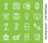 technology icon set   outline... | Shutterstock .eps vector #1097885681