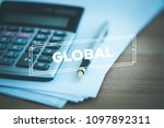 global and finance concept   Shutterstock . vector #1097892311