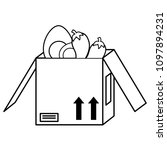 box with vegetables design | Shutterstock .eps vector #1097894231