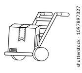 handcart icon image | Shutterstock .eps vector #1097897327