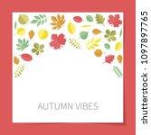 vector flat colored autumn tree ... | Shutterstock .eps vector #1097897765