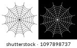 spider web vector icon white... | Shutterstock .eps vector #1097898737