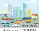 highway in the big city... | Shutterstock . vector #1097901914