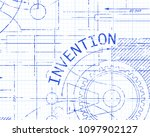 invention text with gear wheels ... | Shutterstock .eps vector #1097902127