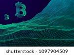 digital currency symbol bitcoin ...   Shutterstock . vector #1097904509