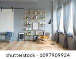 elegant fashionable interior of ...   Shutterstock . vector #1097909924