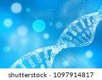 2d render of dna structure ... | Shutterstock . vector #1097914817