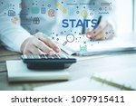 stats and finance concept   Shutterstock . vector #1097915411