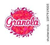 granola logo design.   Shutterstock .eps vector #1097919005