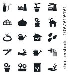 set of vector isolated black... | Shutterstock .eps vector #1097919491