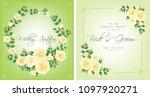 wedding invitation  floral... | Shutterstock .eps vector #1097920271