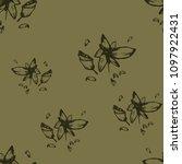 richly green khaki background ... | Shutterstock .eps vector #1097922431