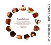 vector cartoon chocolate... | Shutterstock .eps vector #1097932679