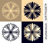 outline flower logotype. laser... | Shutterstock .eps vector #1097933879