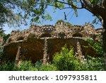 gaudi park in barcelona  details | Shutterstock . vector #1097935811