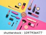 fashion cosmetic makeup set.... | Shutterstock . vector #1097936477