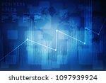 2d rendering stock market...   Shutterstock . vector #1097939924