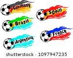 football   soccer set of the... | Shutterstock .eps vector #1097947235