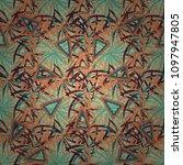 design for cloth  wallpaper ... | Shutterstock .eps vector #1097947805