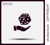 cubes for the game vector icon. | Shutterstock .eps vector #1097958197