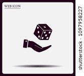 cubes for the game vector icon. | Shutterstock .eps vector #1097958227