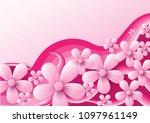 vector abstract illustration.... | Shutterstock .eps vector #1097961149