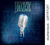 abstract grunge jazz background ... | Shutterstock . vector #109797197