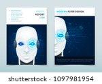 corporate business flyer design ... | Shutterstock .eps vector #1097981954