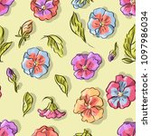 seamless pattern with violet... | Shutterstock .eps vector #1097986034
