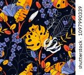 blooming  flowers. realistic... | Shutterstock .eps vector #1097990339