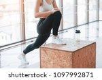 active girl in fitness gym....   Shutterstock . vector #1097992871