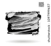 grey  brush stroke and texture. ...   Shutterstock .eps vector #1097999657