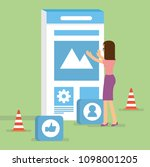 building user interface for... | Shutterstock .eps vector #1098001205